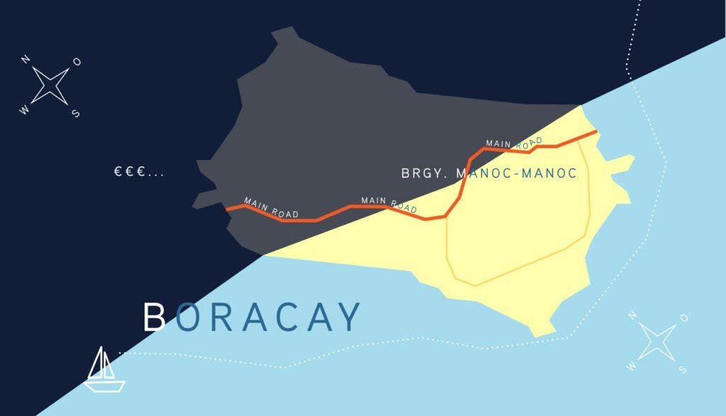 Layout einer fiktiven Karte von Boracay